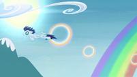 Soarin flying through ring S4E10