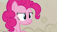 Pinkie Pie unimpressed by the changeling's imitation S2E26