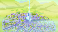 Aerial view of the Crystal Empire just freed S3E02