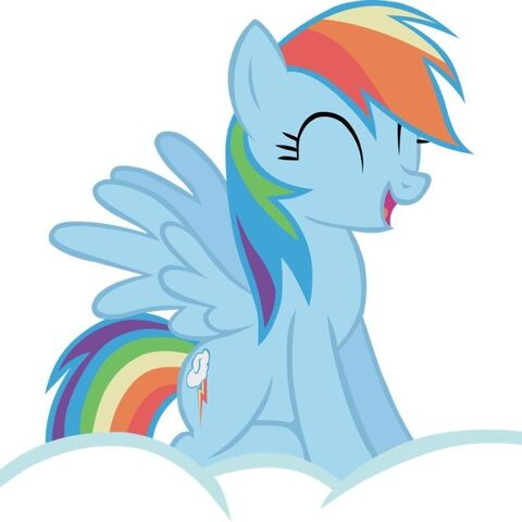 File:FANMADE Rainbow Dash sitting on a cloud.jpg