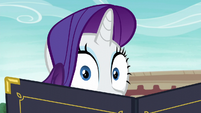 Rarity peeks at Maud Pie S6E3