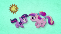 Young Twilight and Cadance do sunshine, sunshine dance BFHHS1