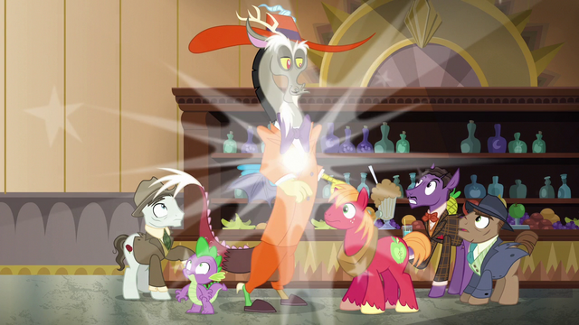 File:Discord, Spike, and Mac appear at the bar S6E17.png