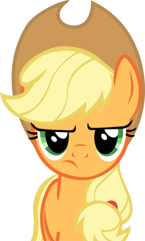 File:FANMADE Applejack is not amused vector.png