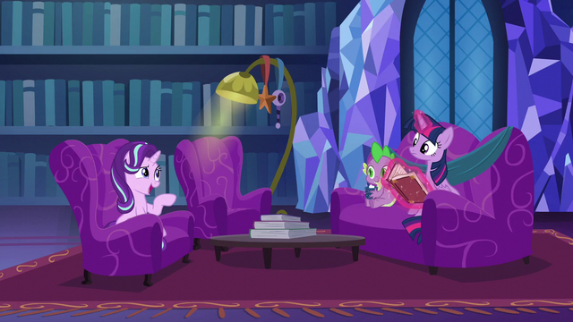 "File:Starlight ""you're doing your Pinkie Pie voice"" S6E8.png"