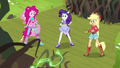Equestria Girls back away from Gloriosa's vines EG4.png
