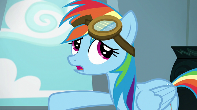 "File:Rainbow Dash ""anypony can put them on"" S6E7.png"
