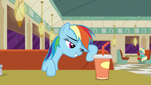 File:Rainbow Dash leaning against her seat S6E9.png