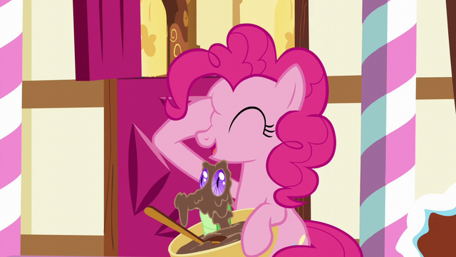 File:Pinkie with hoof on her right eye; Gummy pops out of the bowl S5E19.png