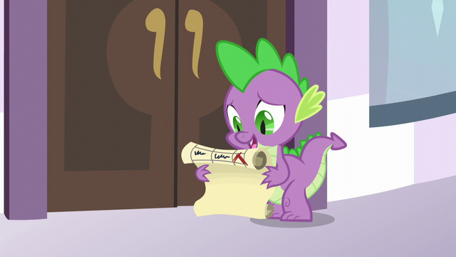 File:Spike holding Twilight's summit checklist S5E10.png