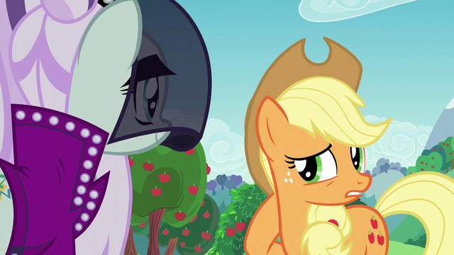 "File:Applejack ""while you were meetin' with"" S5E24.png"