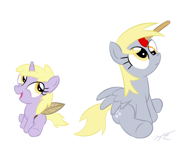 File:FANMADE Dinky and Derpy by loomx.png