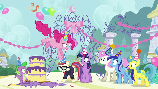 File:Pinkie sticks a party hat on Moon Dancer's head S5E12.png