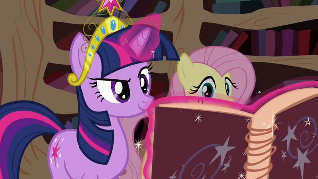 File:Twilight opens Star Swirl's book S03E13.png