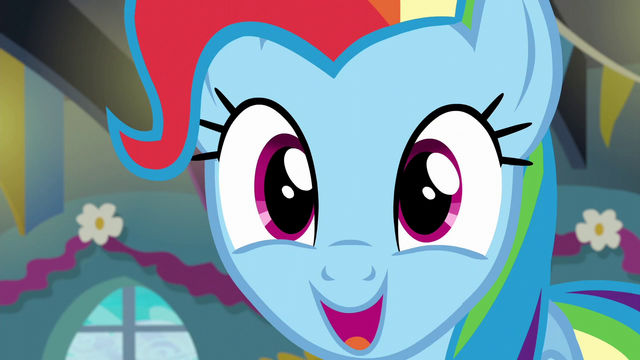 "File:Rainbow ""good morning, everypony!"" S6E7.png"