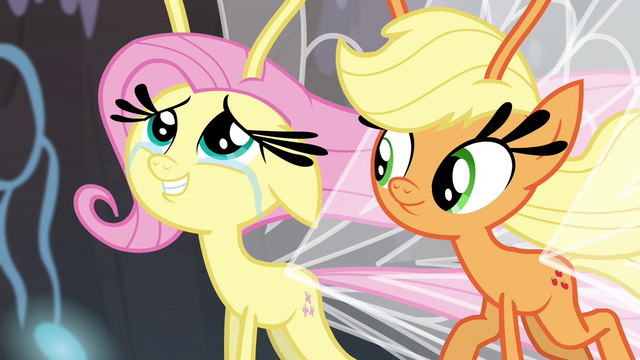 File:Fluttershy happy for the Breezies S4E16.png