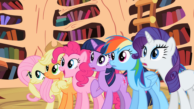 File:Main ponies surprised by Celestia's decision S2E3.png