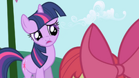 Twilight tells Apple Bloom she's busy S1E01