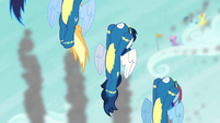 Wonderbolts flying upward S6E7