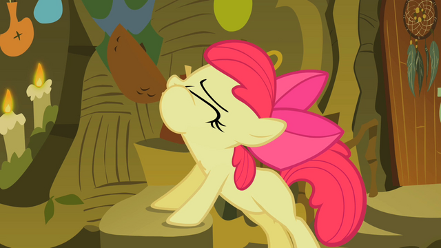 File:Apple Bloom drinking the cure S2E6.png