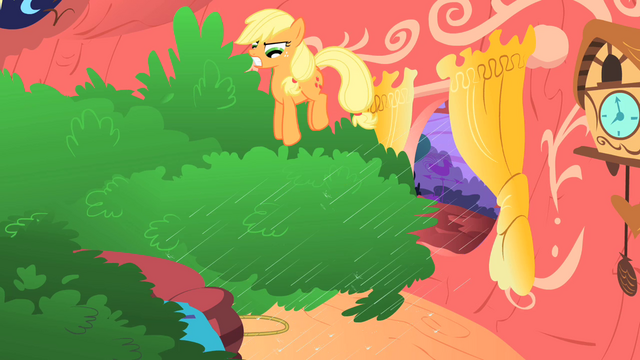 File:Applejack bouncing on the tree S1E08.png