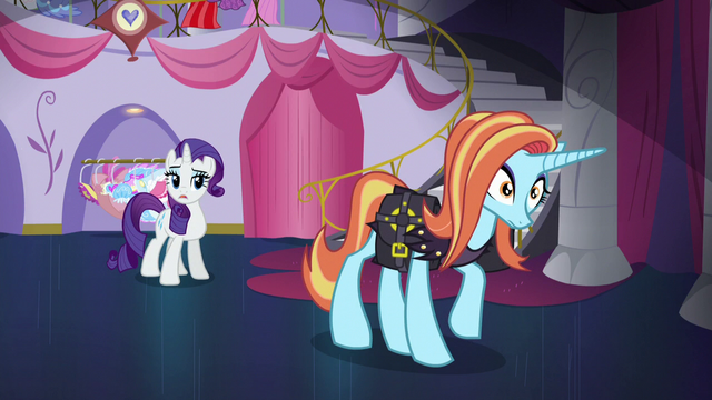 """File:Rarity """"only to be applied at Canterlot Carousel"""" S5E14.png"""