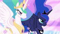 Celestia and Luna staying serious S4E02.png