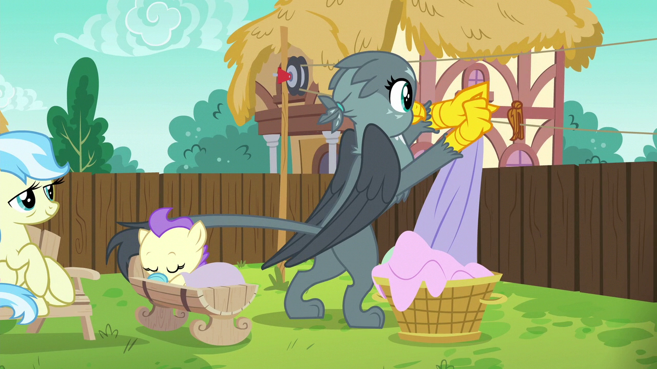 image gabby hanging sheets on a clothesline s6e19png