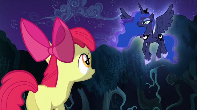 File:Apple Bloom talking to Princess Luna S5E4.png