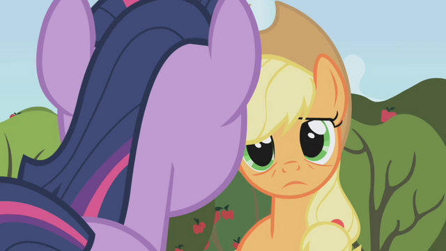 File:Applejack talking to Twilight S1E4.png