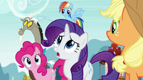 "Rarity ""it's already happened"" S5E22"