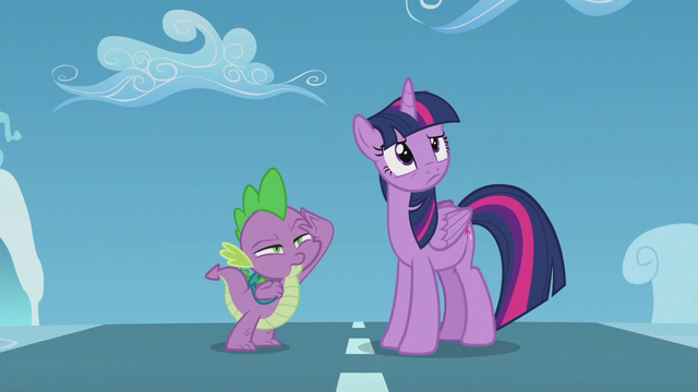 File:Twilight and Spike looking at filly Rainbow S5E25.png