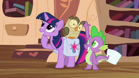 Twilight considers letting Spike watch Owlowiscious S03E11