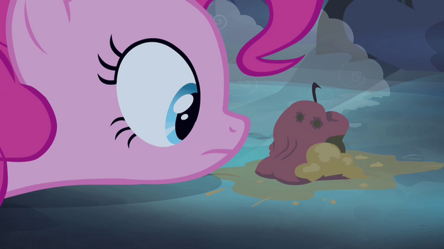 File:Pinkie Pie staring at rotten apple S4E07.png