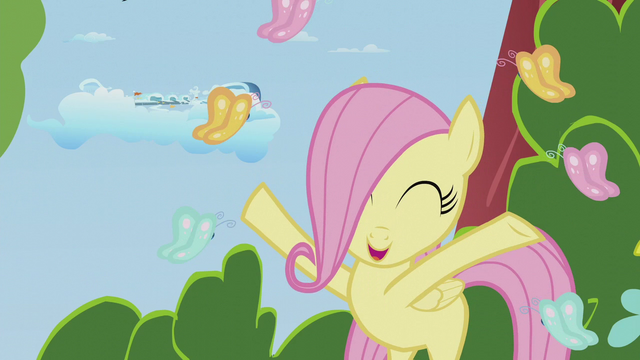 File:Filly Fluttershy frolicking with butterflies S5E25.png