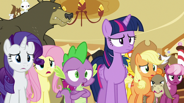 File:Ponyville ponies agreeing with Twilight S6E15.png