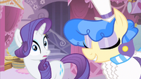 Rarity alarmed by Sapphire Shore's request S1E19