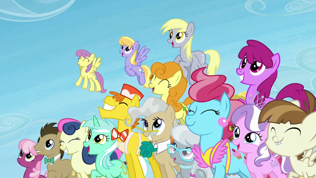 File:Several ponies happy and smiling S5E26.png
