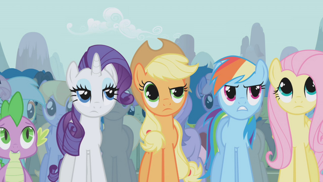 File:Twilight's friends disapprove of Trixie's boasting S1E06.png