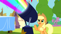 Applejack and rainbow floodlight S4E12