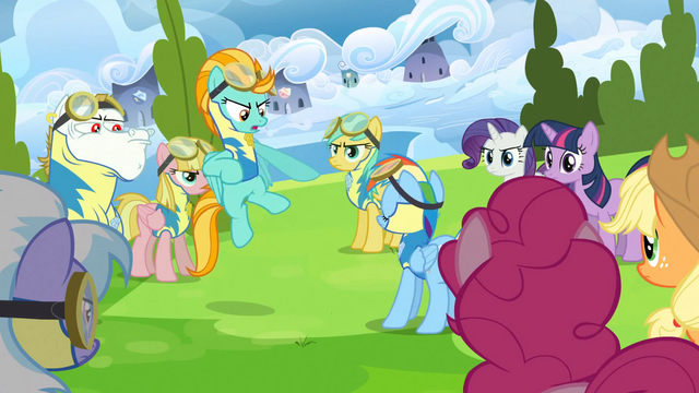 File:Lightning Dust pointing at Rainbow Dash S3E07.png