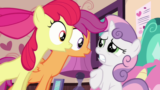 File:Scootaloo and Apple Bloom 'No!' 2 S3E4.png
