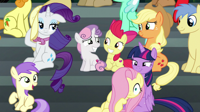 File:Main ponies windswept by the Wonderbolts S6E7.png