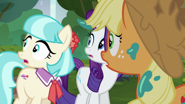 File:Rarity, Coco, and AJ hear the Method Mares S5E16.png