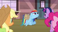 Rainbow Dash sad flashback face S3E12