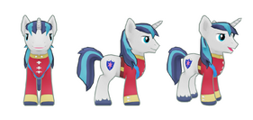 My Little Pony mobile game Shining Armor Model