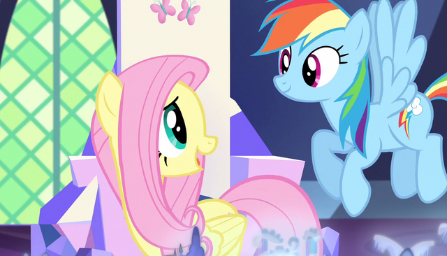 File:Fluttershy talks with Rainbow Dash S5E01.png