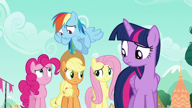 File:Rarity's friends look at each other S6E9.png