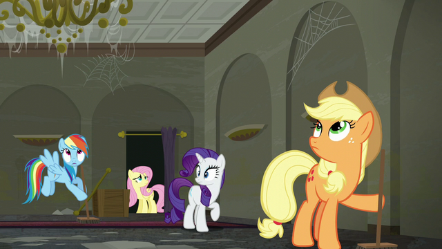 File:Chandelier shakes as music plays upstairs S6E9.png