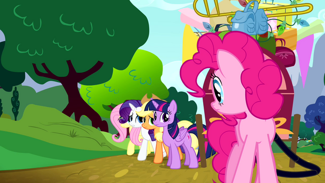 File:Main cast apologizing to Pinkie S4E12.png